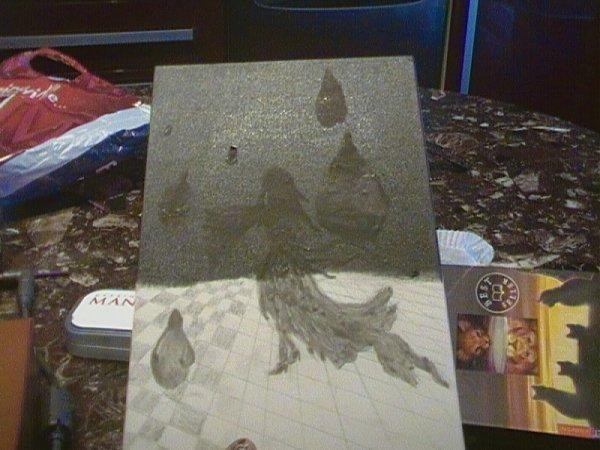 toutes les étapes de mon nouveau tableau !