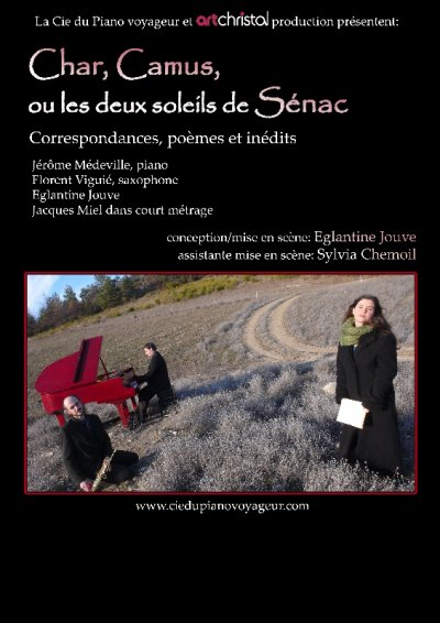 """spectacle """"Char, Camus ou les deux soleils de Sénac"""" à la Maison de la Poésie de St Quentin en Yvelines - Guyancourt"""