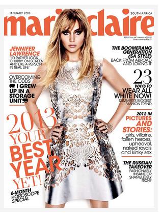 Actualité ll  Jennifer pour le Marie Claire Sud-Africain - Jan.2013  _