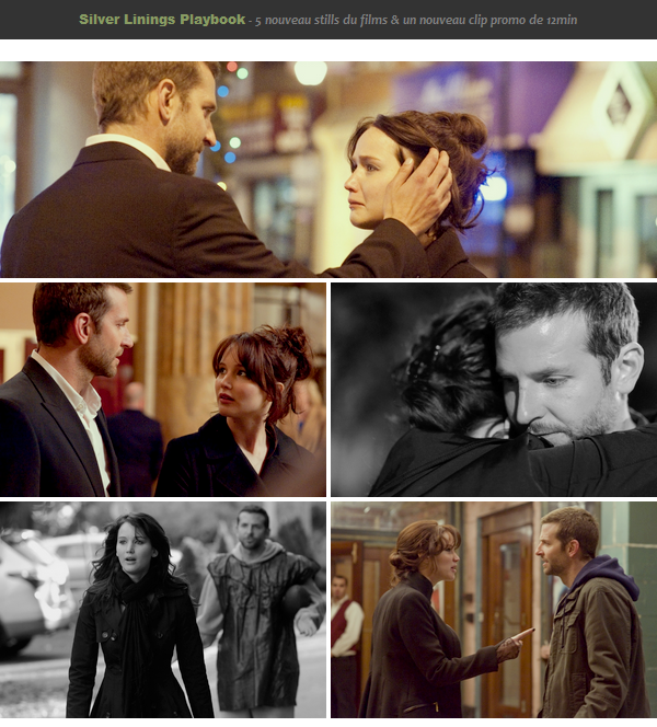 Silver Linings Playbookll  nouveau stills + clips