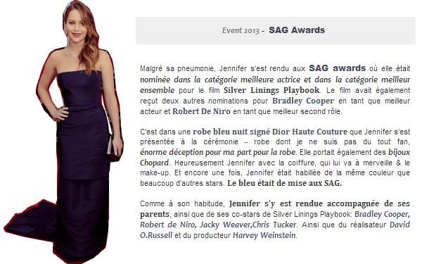 Event 2013 ll  Les SAG - le 27.01.13