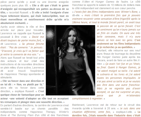 Interview/Photoshoot ll  The Wrap - Février 2013