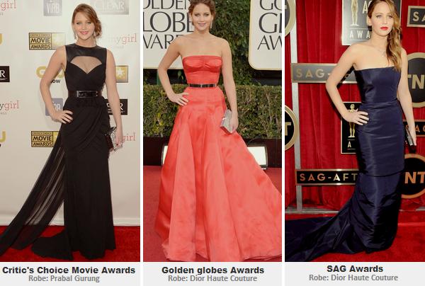 Divers ll  Tenues de Jennifer lors de la saison des awards!