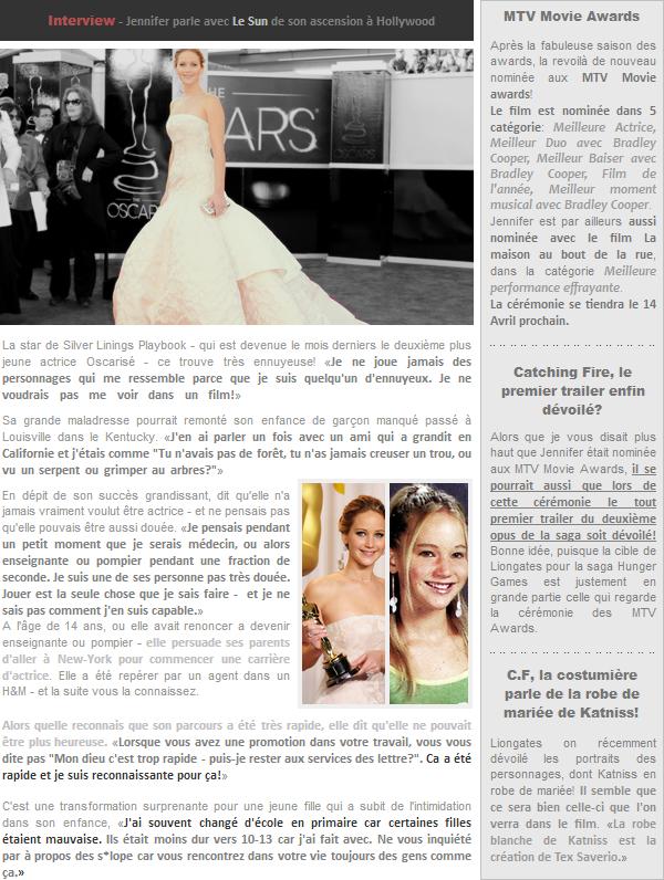 Actualité ll   Interview avec Le Sun + diverses news