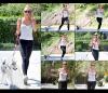 5/04 : Après son cours de pilates, Miley est allé faire son jogging avec son chien Floyd