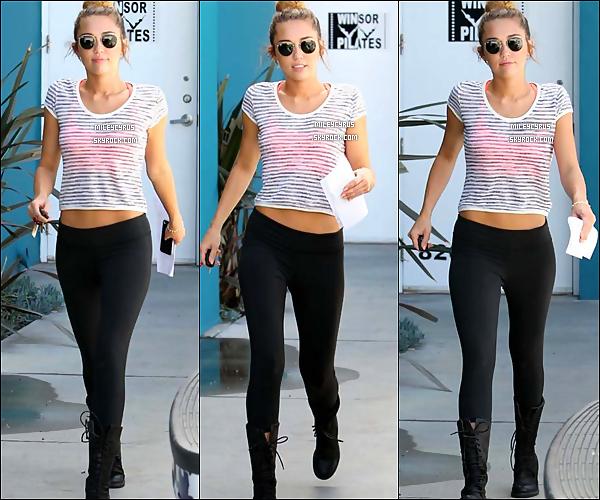 11/04/12 - Miley aperçu quittant son cours de pilates.