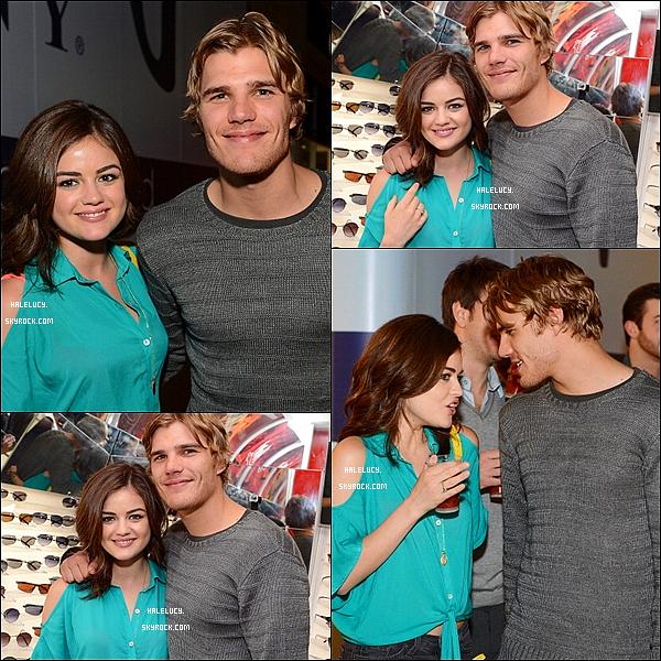 18.04.12: Lucy en compagnie de son boyfriend étaient présents à l'ouverture du Chilli Beans Century City Store.