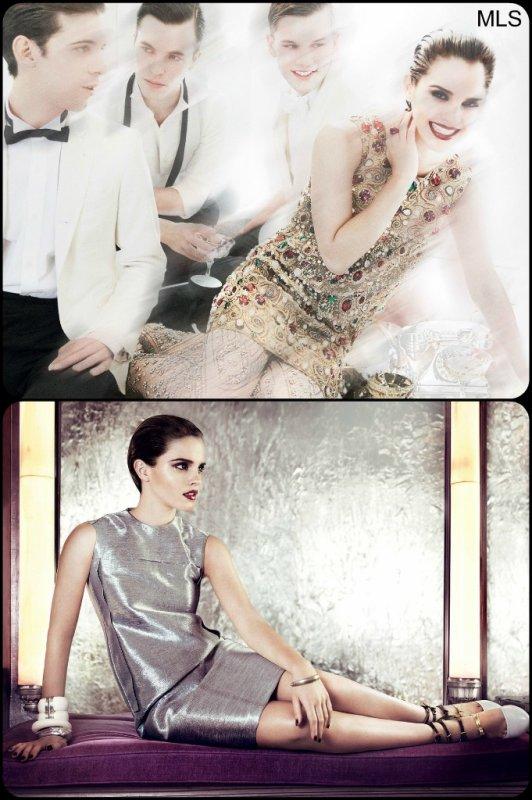 Shoot d'Emma Watson pour Vogue US.