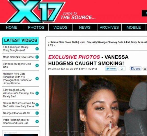 Vanessa Hudgens ELLE FUME !!!!!!!!
