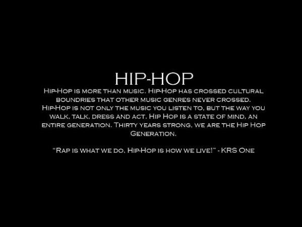 Hip Hop is more than Music