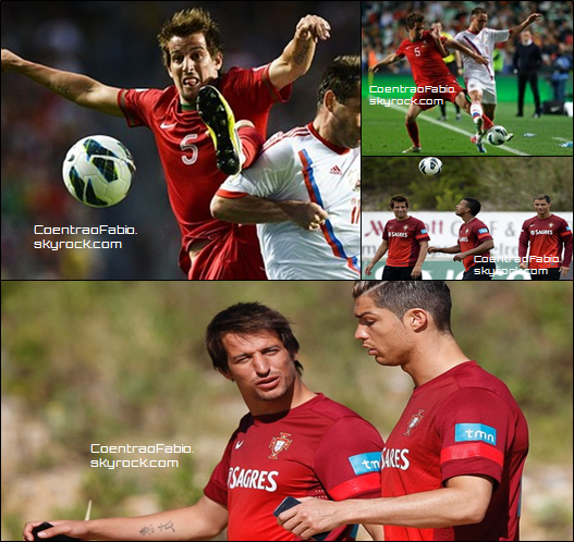 07/06/13 Fabio jouait avec l'équipe national du Portugal contre la Russie, pour les qualifications de la Coupe du Monde de 2014, Résultat: Portugal 1-0 Russie + photos des entraînements de la semaine
