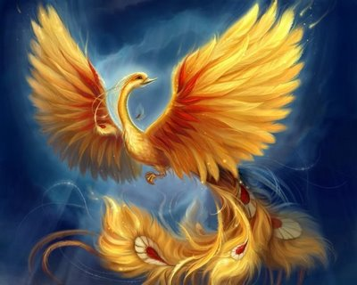 Le phénix (l'oiseau qui renait de ses cendre)