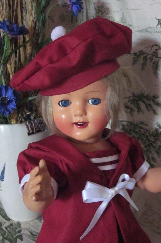 Magnifique petit ensemble marin pour petite poupée