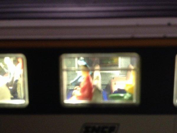 Éclairage voiture corail avec passagers