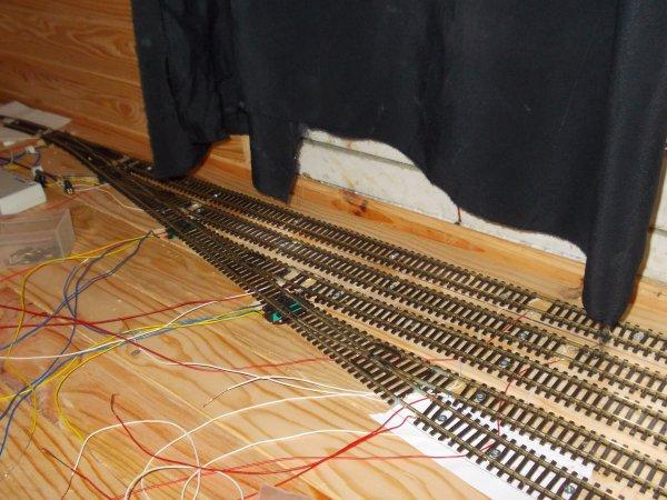 Avancée du réseau 3.0: faisceau d'aiguillages sud gare cachée n°1