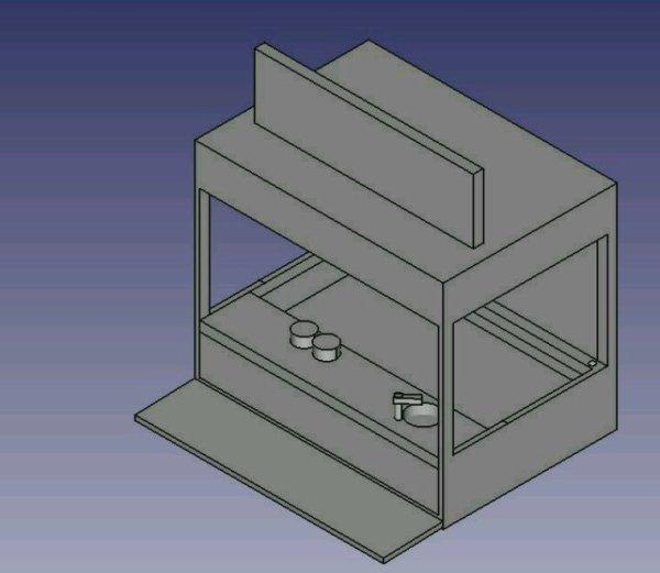 Stand de crêpes et churros modélisé en 3D  reste plus qu'à imprimer