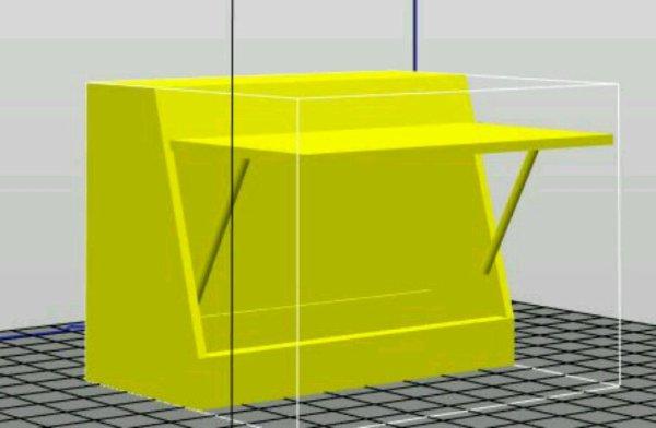 Stand fête foraine modélisé en 3D
