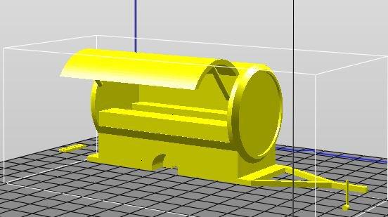 marchant ambulant de boisson en forme de canette  modélisation 3D (encore quelques modifs à faire)
