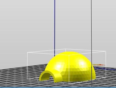 dernière création 3D pour la montagne: un igloo au 1/87