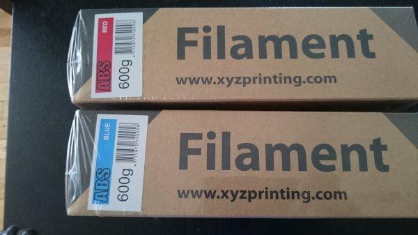 Achats de  filaments pour l'imprimente 3D