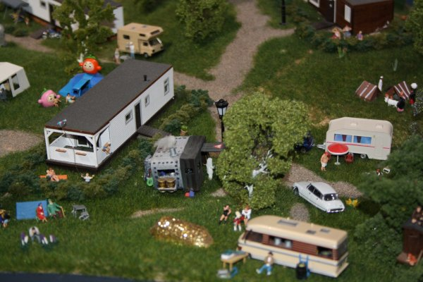 Reportage photo mini world Lyon: Le camping