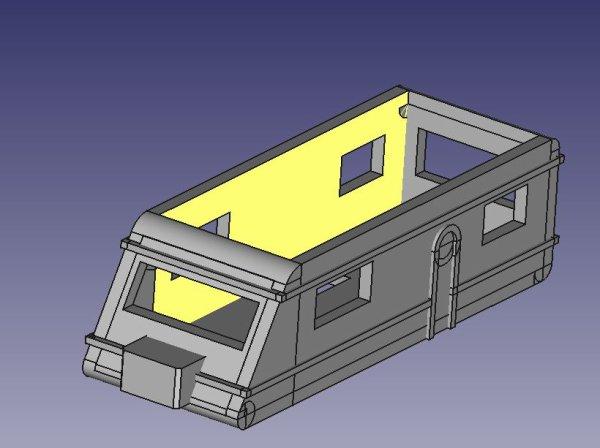 création d'une caravane en modélisation 3D