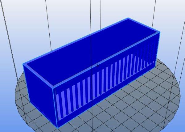 Remorque cage aux fauves réalisée en modélisation 3D dimension 120x40x40mm