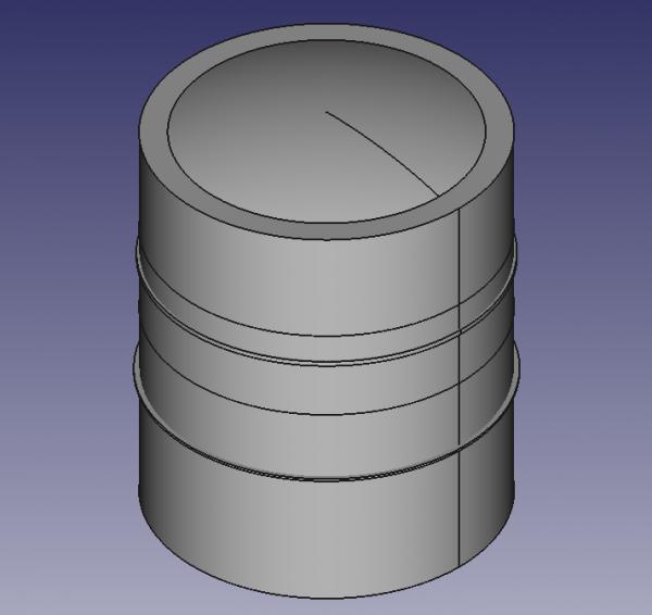 raffinerie en 3D: les cuves
