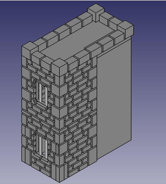 Nouvelle création en 3D : le château hanté, La tour gauche