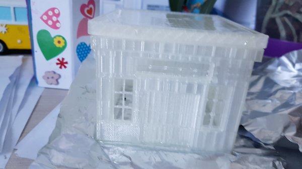 Création d'un hangar de stockage d'huile: le lissage de l'impression 3D: la suite