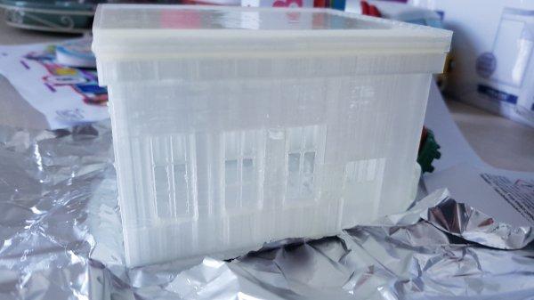 Création d'un hangar de stockage d'huile: le lissage de l'impression 3D