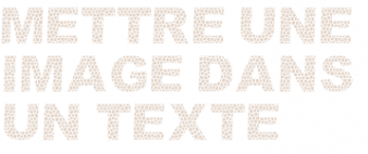 image dans texte