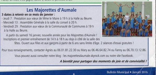 """article paru dans le """"J'aime Aumale"""""""