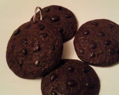 Pendentif cookie tout chocolat