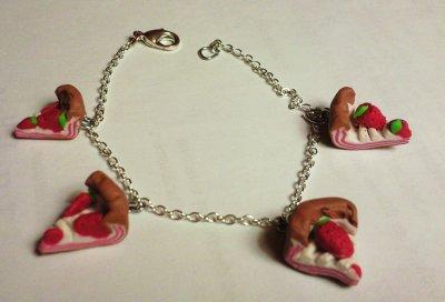 Bracelet tarte aux fraises
