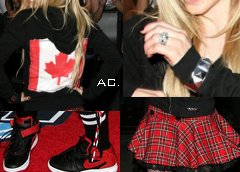 Avril au Much Music Video Awards en 2007