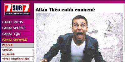 """Article consacré à Allan Theo sur le site """"7sur7"""""""