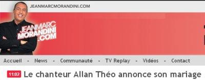 Article consacré à Allan Theo sur le site de Jean-Marc Morandini