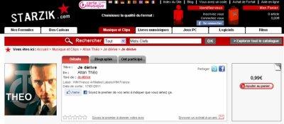 """""""Je dérive"""", disponible en téléchargement sur Starzik"""