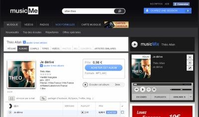"""""""Je dérive"""", disponible en écoute et en téléchargement sur MusicMe"""