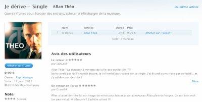 """""""Je dérive"""", disponible en téléchargement sur Itunes"""