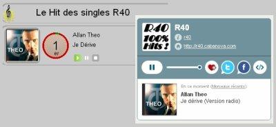 """""""Je dérive"""", n°1 au hit des singles sur la webradio R40"""