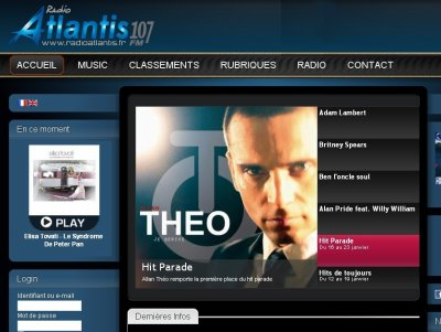 """""""Je dérive"""", entrée directe à la 1ère place au hit de la radio FM """"Radio Atlantis"""" !!!!!"""