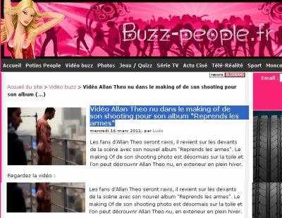 """Vidéo Allan Theo nu dans le making of de son shooting pour son album """"Reprends les armes"""""""