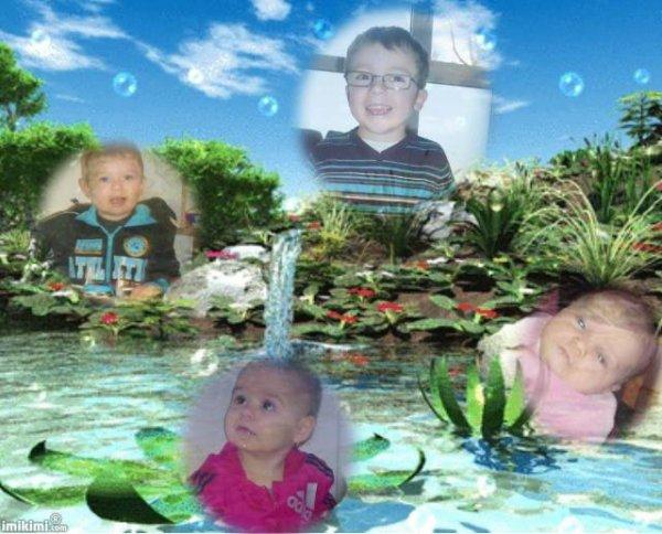 mes 4 petits enfants