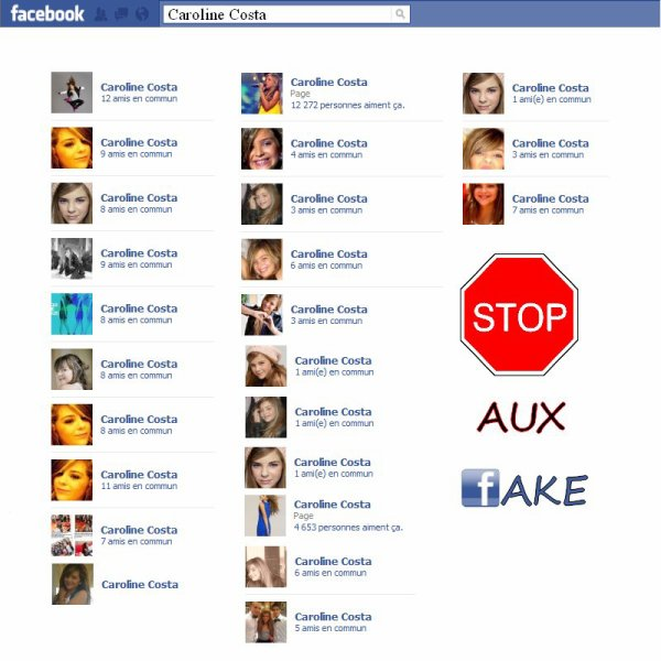 Fake de Caroline ! Irréspéctueux !   Son site Internet  Myspace  Facebook  Ses vidéos  Newsletter  Forum  Twitter