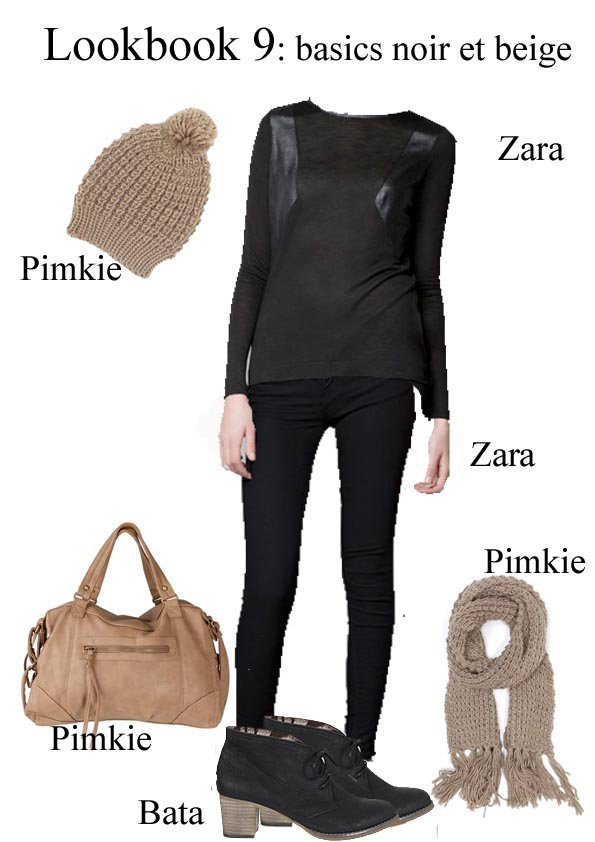 lookbook 9 basics noir et beige