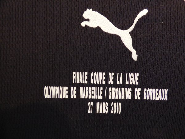 Maillot Préparé pour Gregory Sertic pour la Finale de la Coupe de la Ligue le 27 Mars 2010 au Stade De France