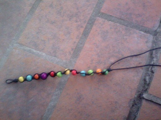 Bracelet type Shamballa: simple