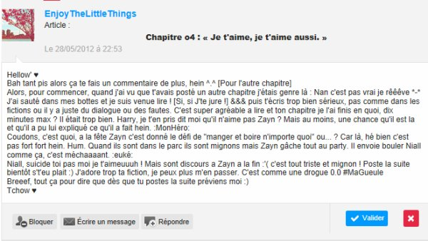 Commentaires chapitre o4. **